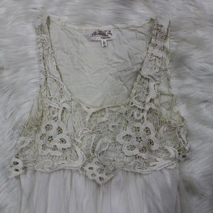 Banana Lace with Tulle Dress. 3 for $20.